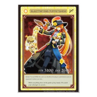 AZ card - Electrifying Puppetshow 9 Cm X 13 Cm Invitation Card