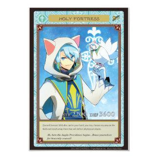 AZ card - Holy Fortress 9 Cm X 13 Cm Invitation Card
