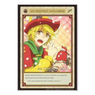AZ card - My Deepest Apologies 9 Cm X 13 Cm Invitation Card