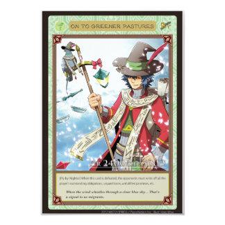 AZ card - ON to Greener Pastures 9 Cm X 13 Cm Invitation Card
