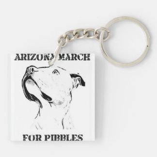 AZ March for Pibbles Key Chain