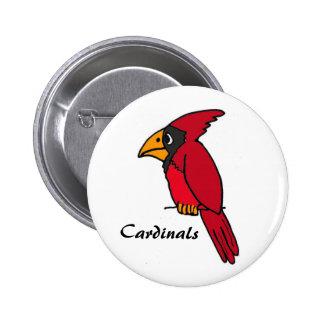AZ- Red Cardinals Button