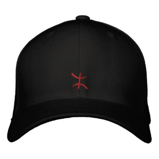 aZa rouge de 3 cm Embroidered Cap