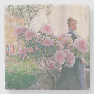 Azalea, 1906 (w/c on paper) stone coaster
