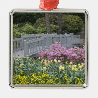 Azalea Heath Family (Ericaceae), Tulip, and Silver-Colored Square Decoration