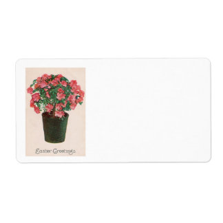 Azalea Potted Plant Easter Shipping Label