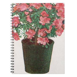 Azalea Potted Plant Easter Spiral Notebooks