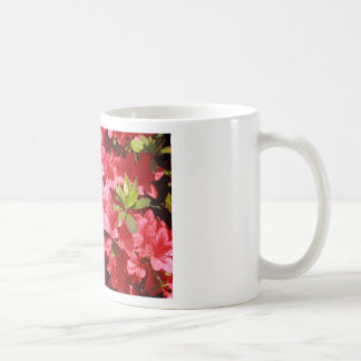 azalea red flowers coffee mug