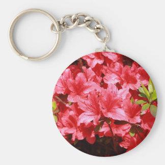 azalea red flowers key ring