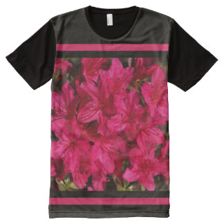 Azaleas Bright Design by Bubbleblue All-Over Print T-Shirt