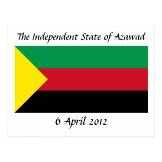 Azawad Flag Postcard
