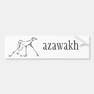 Azawakh Bumper Sticker Design by David Moore