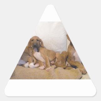 Azawakh Puppies Triangle Sticker