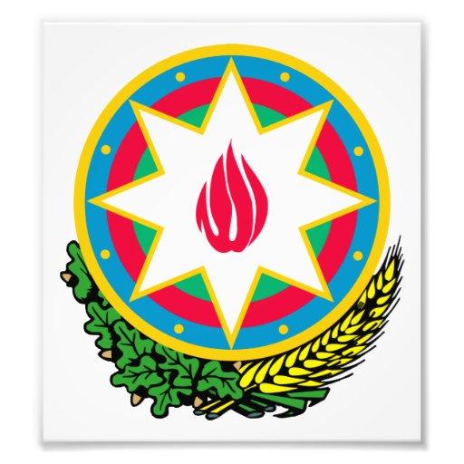 Azerbaijan Coat Of Arms Photograph