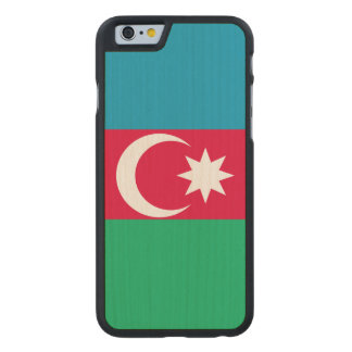 Azerbaijan Flag Carved Maple iPhone 6 Case