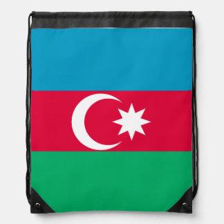 Azerbaijan Flag Drawstring Bag