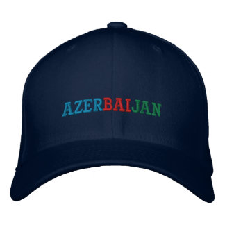 Azerbaijan flag embroidered hat