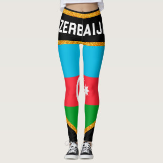 Azerbaijan Flag Leggings