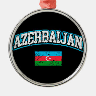 Azerbaijan Flag Metal Ornament