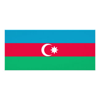 Azerbaijan Flag Rack Card