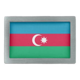Azerbaijan Flag Rectangular Belt Buckle