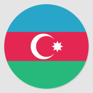 Azerbaijan Flag Round Stickers