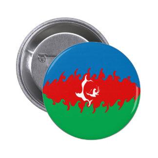 Azerbaijan Gnarly Flag Pinback Button