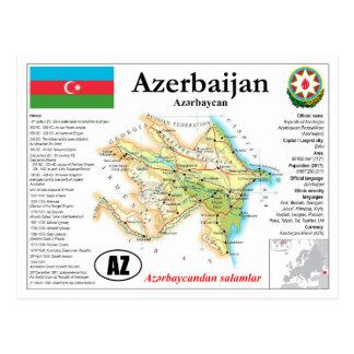 Azerbaijan Map Postcard