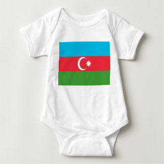 Azerbaijan National World Flag Baby Bodysuit