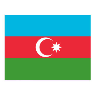 Azerbaijan National World Flag Postcard