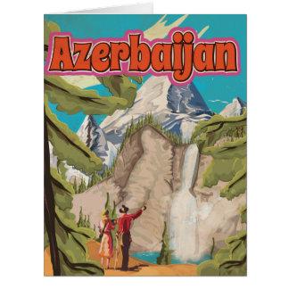Azerbaijan Vintage Travel Poster Big Greeting Card