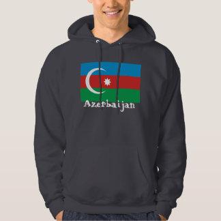 Azerbaijan with flag hoodie