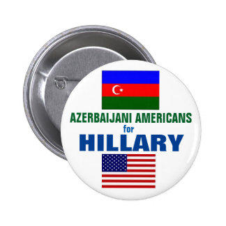 Azerbaijani Americans for Hillary 2016 6 Cm Round Badge
