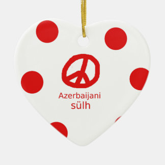 Azerbaijani Language And Peace Symbol Design Ceramic Ornament