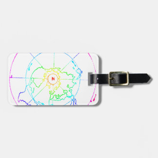 Azimuthal Equidistant Map Zetetic Bag Tag