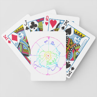 Azimuthal Equidistant Map Zetetic Bicycle Playing Cards