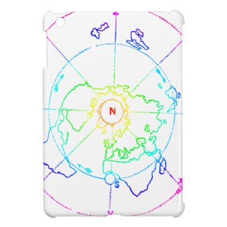 Azimuthal Equidistant Map Zetetic iPad Mini Cases
