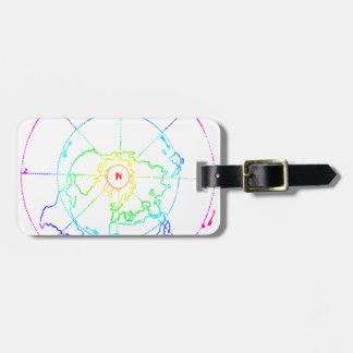 Azimuthal Equidistant Map Zetetic Luggage Tag