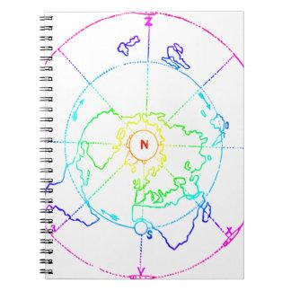 Azimuthal Equidistant Map Zetetic Notebooks