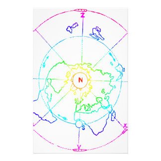 Azimuthal Equidistant Map Zetetic Stationery