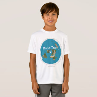 Azimuthal Equidistant 'Plane Truth.' Kids T-shirts