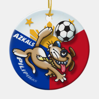 Azkals Soccer Football Action Ceramic Ornament