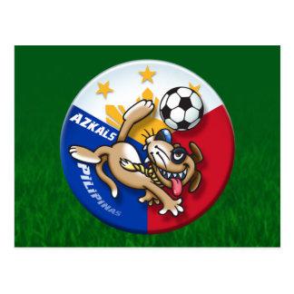 Azkals Soccer Football Action Postcard
