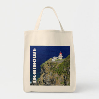 Azorean Lighthouse Grocery Tote Bag