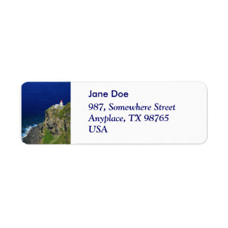 Azorean Lighthouse Return Address Label