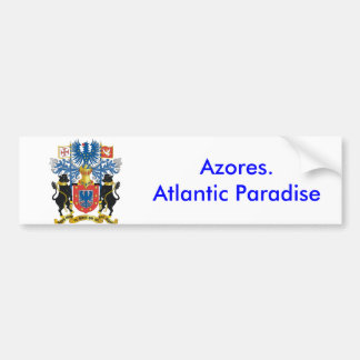 Azores* Atlantic Paradise Bumper Sticker Car Bumper Sticker