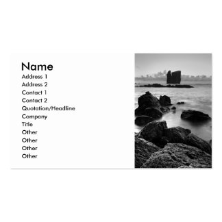 Azores black and white seascape pack of standard business cards