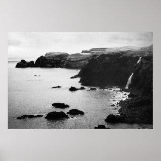 Azores coastal landscape poster