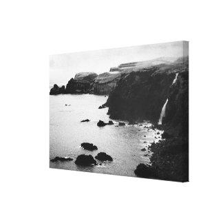 Azores coastal landscape stretched canvas prints