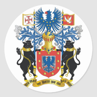 azores coat of arms classic round sticker